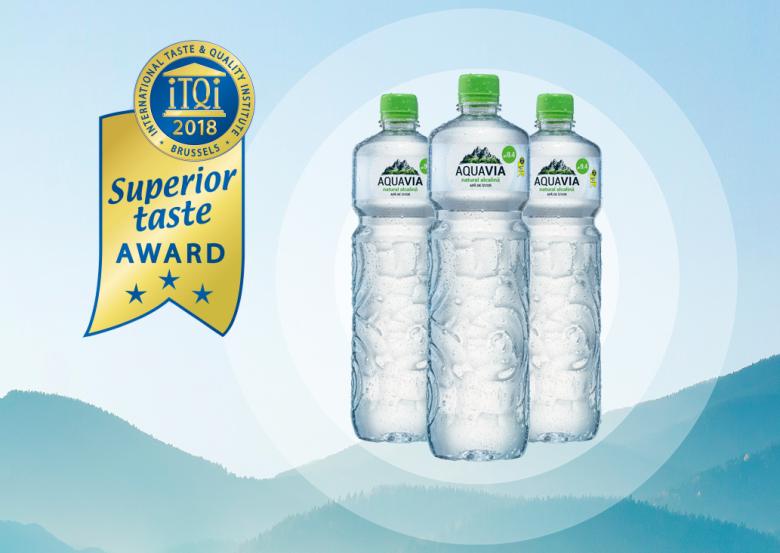 """AquaVia premiată cu """"Superior Taste Award"""""""